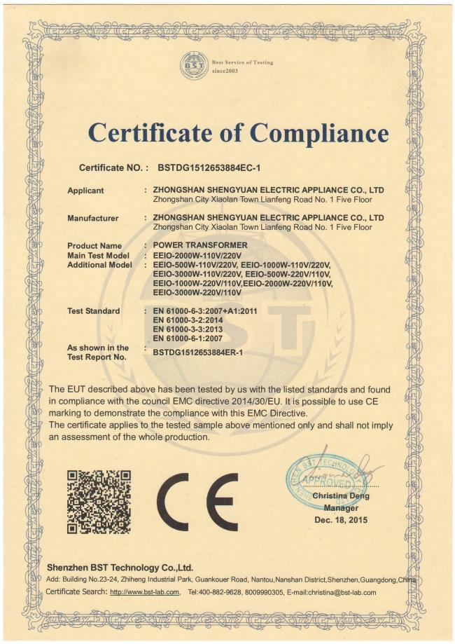 EMC for Power Supply Transformer