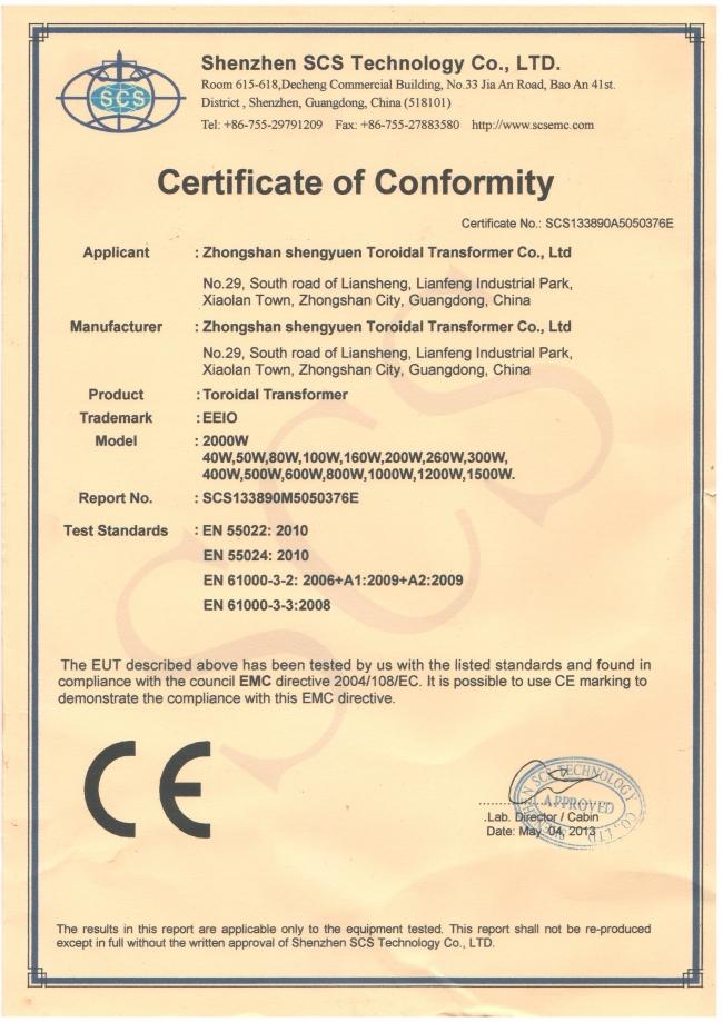 EMC for Toroidal Transformer